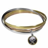 Buffalo Sabres Tri-color Bangle Bracelet