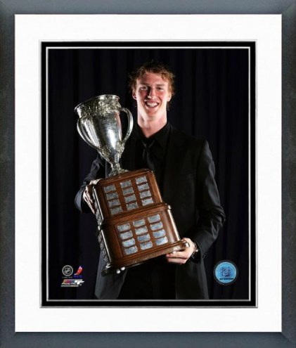 Buffalo Sabres Tyler Myers With the Calder Trophy Framed Photo