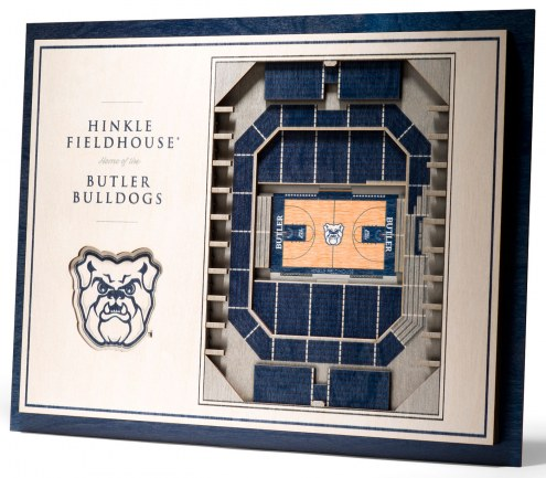 Butler Bulldogs 5-Layer StadiumViews 3D Wall Art