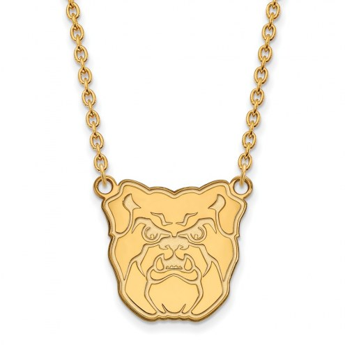 Butler Bulldogs NCAA Sterling Silver Gold Plated Large Pendant Necklace
