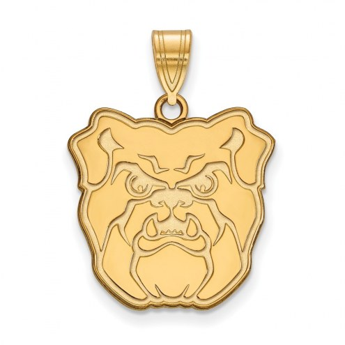 Butler Bulldogs NCAA Sterling Silver Gold Plated Large Pendant