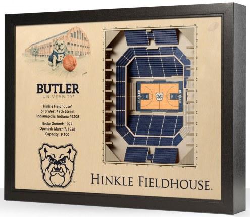 Butler Bulldogs 25-Layer StadiumViews 3D Wall Art