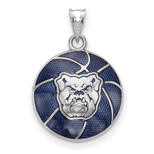 Butler Bulldogs Sterling Silver Enameled Basketball Pendant