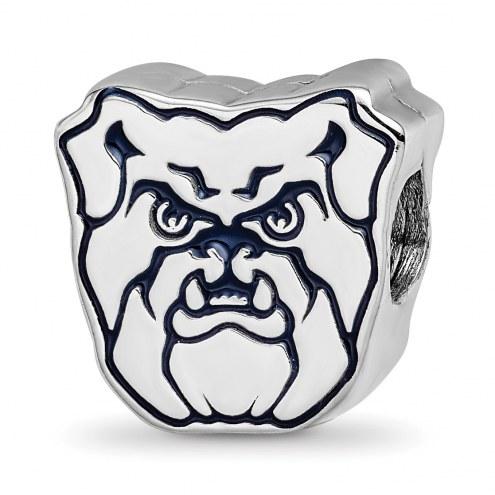Butler Bulldogs Sterling Silver Enameled Bead