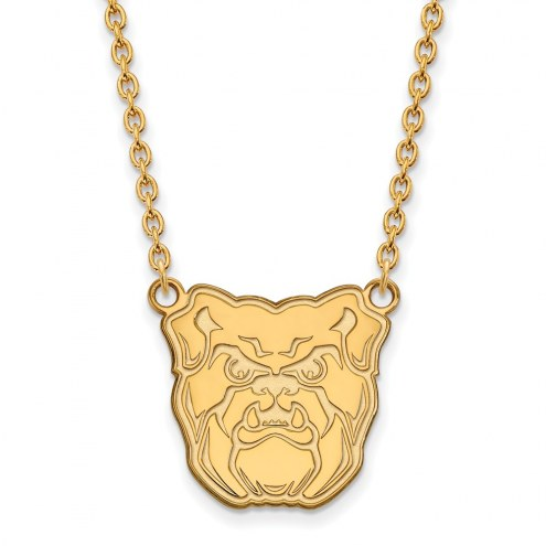 Butler Bulldogs Sterling Silver Gold Plated Large Pendant Necklace