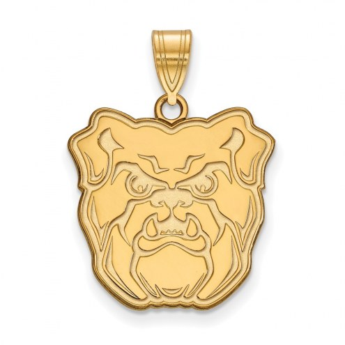 Butler Bulldogs Sterling Silver Gold Plated Large Pendant