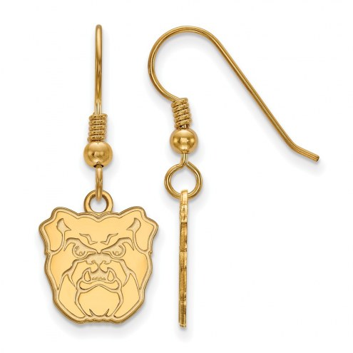 Butler Bulldogs Sterling Silver Gold Plated Small Dangle Earrings