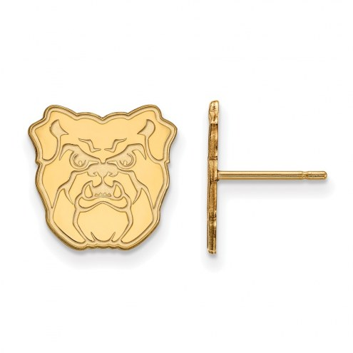 Butler Bulldogs Sterling Silver Gold Plated Small Post Earrings