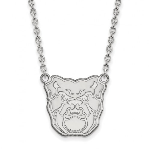 Butler Bulldogs Sterling Silver Large Pendant Necklace