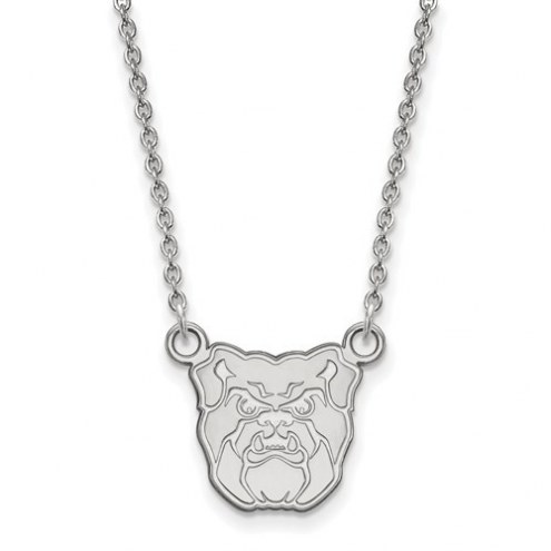 Butler Bulldogs Sterling Silver Small Pendant with Necklace