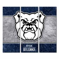 Butler Bulldogs Triptych Double Border Canvas Wall Art