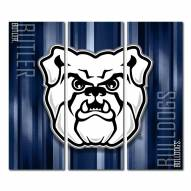 Butler Bulldogs Triptych Rush Canvas Wall Art