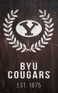 "BYU Cougars 11"" x 19"" Laurel Wreath Sign"