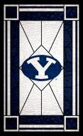 """BYU Cougars 11"""" x 19"""" Stained Glass Sign"""