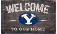 """BYU Cougars 11"""" x 19"""" Welcome to Our Home Sign"""