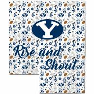"""BYU Cougars 12"""" Floral State Sign"""