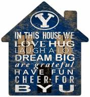 """BYU Cougars 12"""" House Sign"""