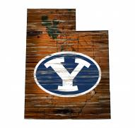 """BYU Cougars 12"""" Roadmap State Sign"""