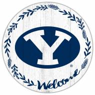 """BYU Cougars 12"""" Welcome Circle Sign"""