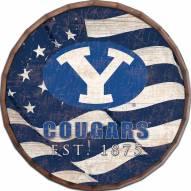"""BYU Cougars 16"""" Flag Barrel Top"""