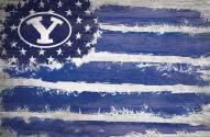 "BYU Cougars 17"" x 26"" Flag Sign"