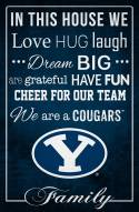 """BYU Cougars 17"""" x 26"""" In This House Sign"""