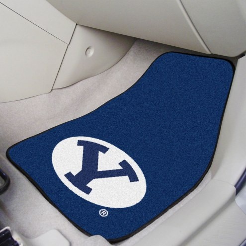BYU Cougars 2-Piece Carpet Car Mats