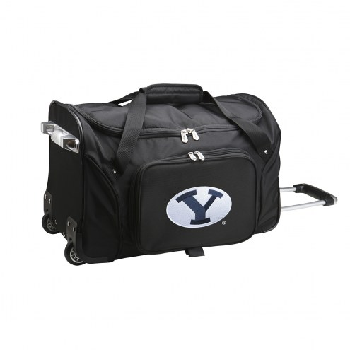 """BYU Cougars 22"""" Rolling Duffle Bag"""