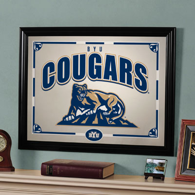 "BYU Cougars 23"" x 18"" Mirror"