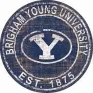 "BYU Cougars 24"" Heritage Logo Round Sign"