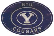 "BYU Cougars 46"" Heritage Logo Oval Sign"