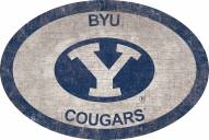 """BYU Cougars 46"""" Team Color Oval Sign"""