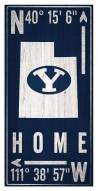 """BYU Cougars 6"""" x 12"""" Coordinates Sign"""