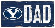 """BYU Cougars 6"""" x 12"""" Dad Sign"""