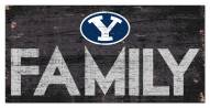 """BYU Cougars 6"""" x 12"""" Family Sign"""