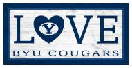 """BYU Cougars 6"""" x 12"""" Love Sign"""