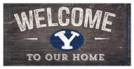 """BYU Cougars 6"""""""" x 12"""""""" Welcome Sign"""