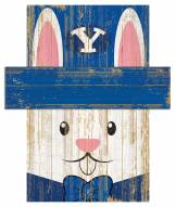 """BYU Cougars 6"""" x 5"""" Easter Bunny Head"""