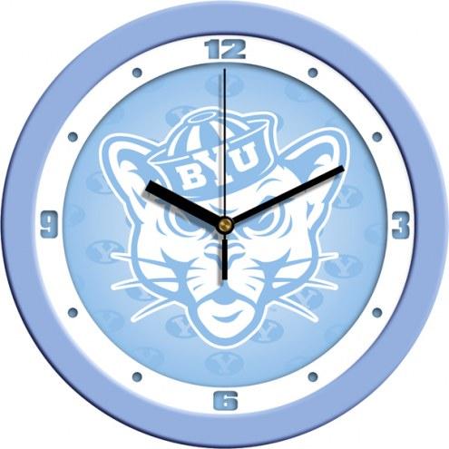 BYU Cougars Baby Blue Wall Clock