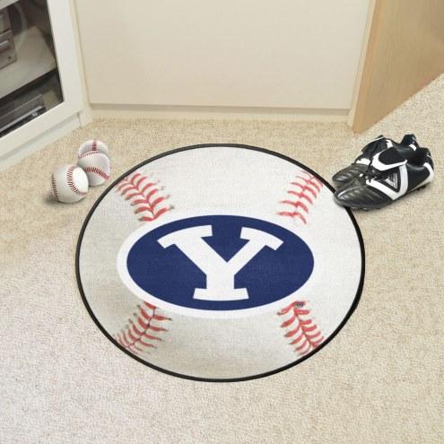 BYU Cougars Baseball Rug