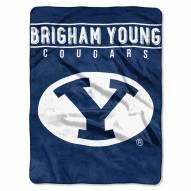 BYU Cougars Basic Plush Raschel Blanket