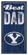 BYU Cougars Best Dad Sign