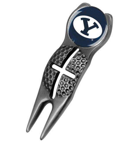 BYU Cougars Black Crosshairs Divot Tool