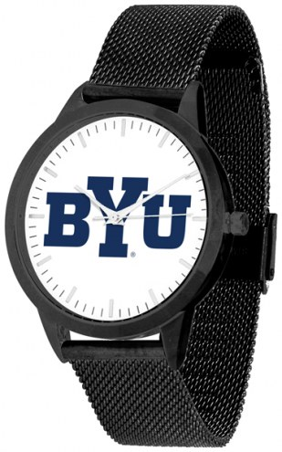 BYU Cougars Black Mesh Statement Watch