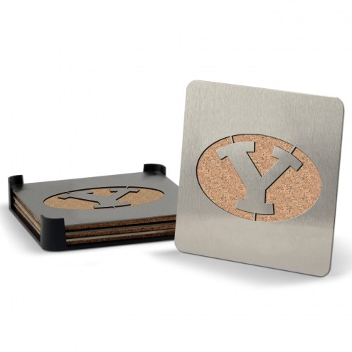 BYU Cougars Boasters Stainless Steel Coasters - Set of 4