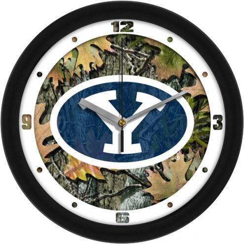 BYU Cougars Camo Wall Clock