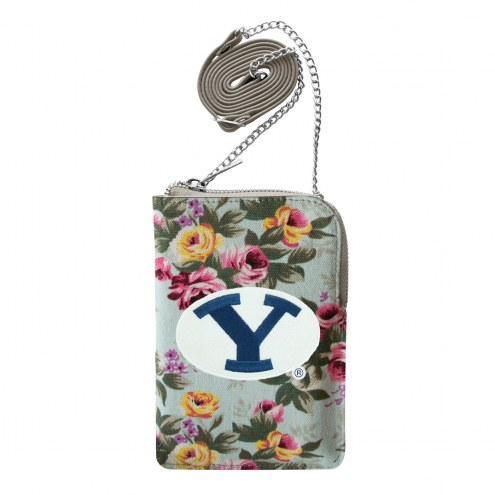BYU Cougars Canvas Floral Smart Purse