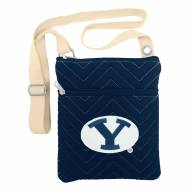 BYU Cougars Chevron Stitch Crossbody Bag