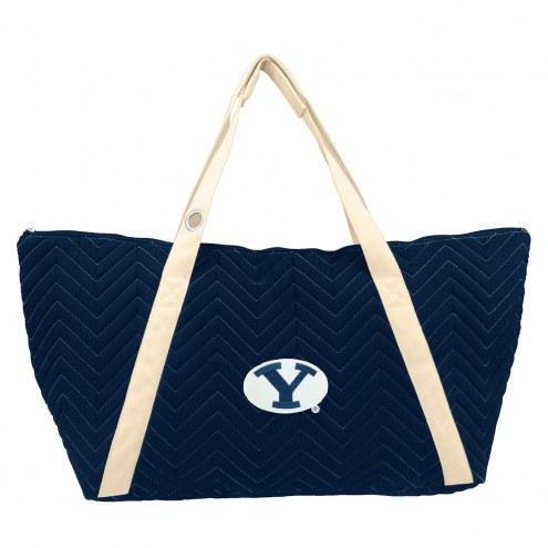 BYU Cougars Chevron Stitch Weekender Bag