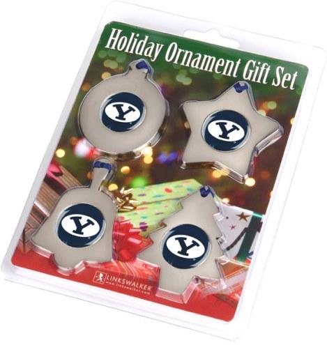 BYU Cougars Christmas Ornament Gift Set